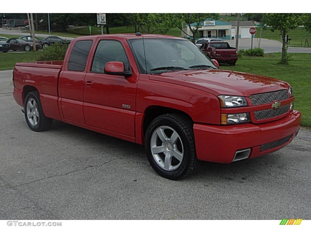 2004 victory red chevrolet silverado 1500 ss extended cab. Black Bedroom Furniture Sets. Home Design Ideas