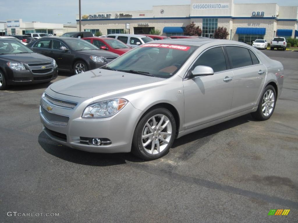 2008 silverstone metallic chevrolet malibu ltz sedan 31080239 car color galleries. Black Bedroom Furniture Sets. Home Design Ideas