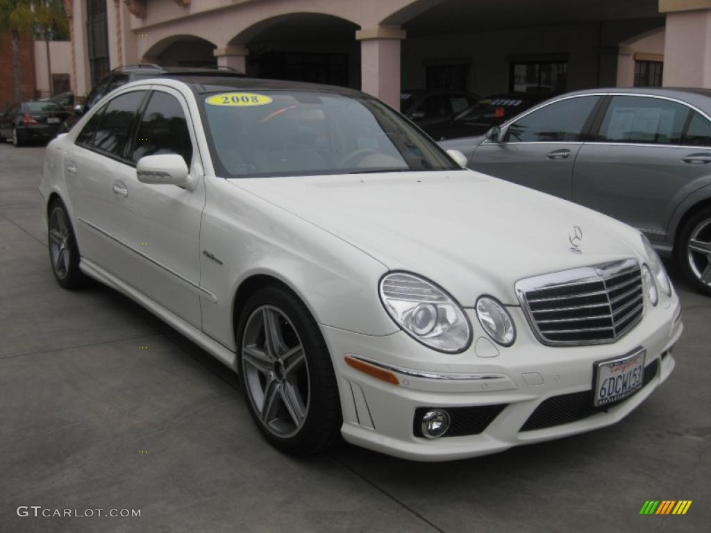 2008 arctic white mercedes benz e 63 amg sedan 31079946 for Mercedes benz e 350 2008