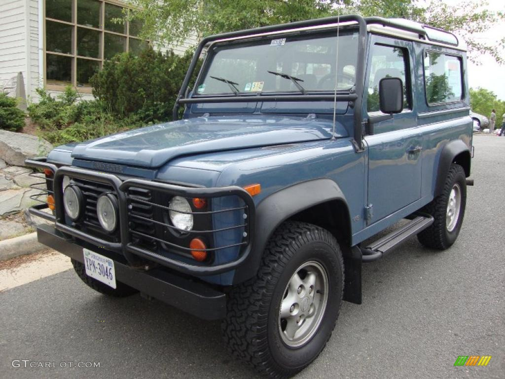 1997 Aries Blue Land Rover Defender 90 Hard Top #31080309