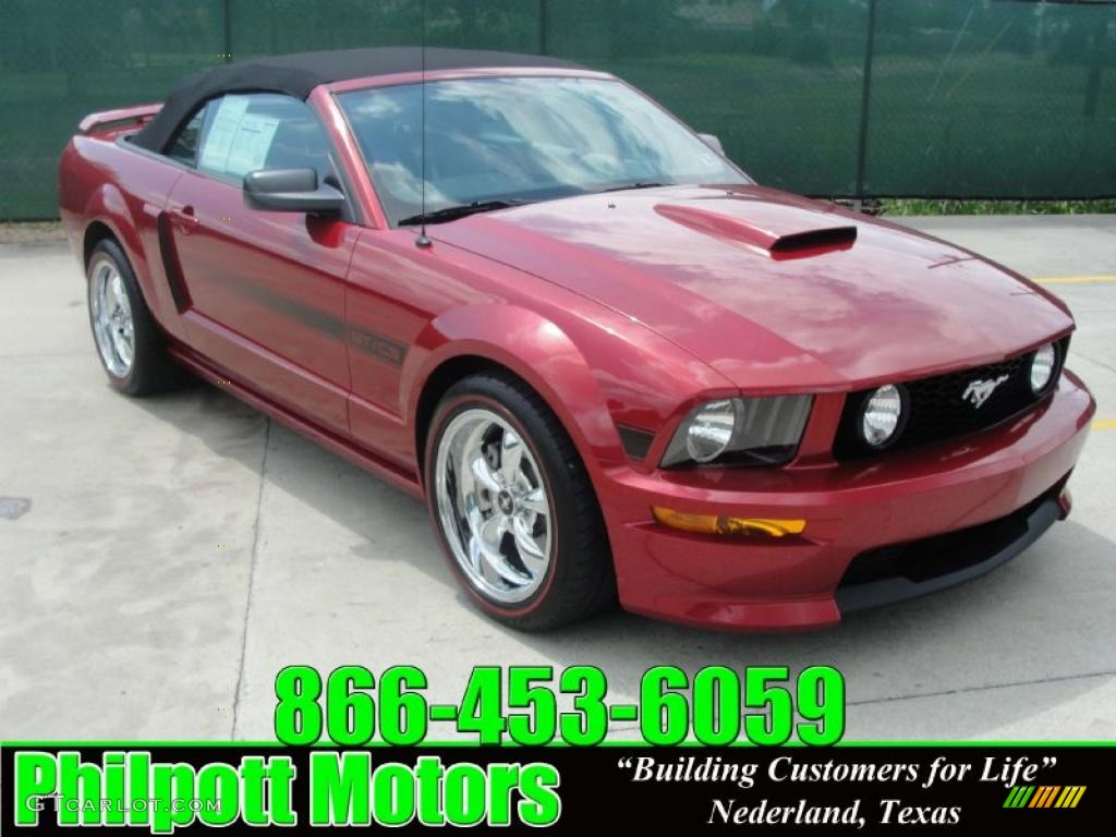 2007 Redfire Metallic Ford Mustang Gt Cs California Special