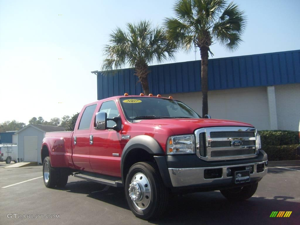 2007 Red Ford F550 Super Duty Lariat Crew Cab Dually #3093757 ...