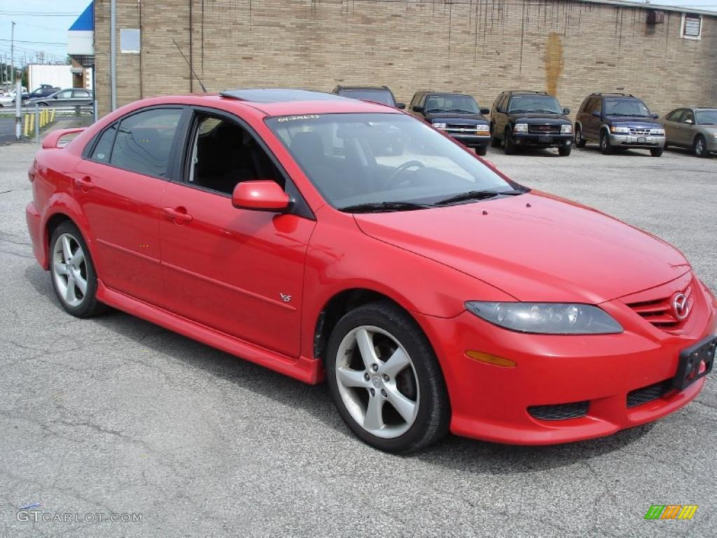 2004 volcanic red mazda mazda6 s hatchback 31145354 car color galleries. Black Bedroom Furniture Sets. Home Design Ideas