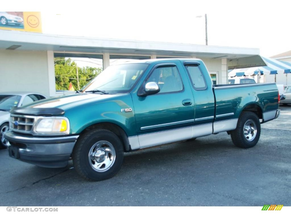 1997 pacific green metallic ford f150 xlt extended cab. Black Bedroom Furniture Sets. Home Design Ideas
