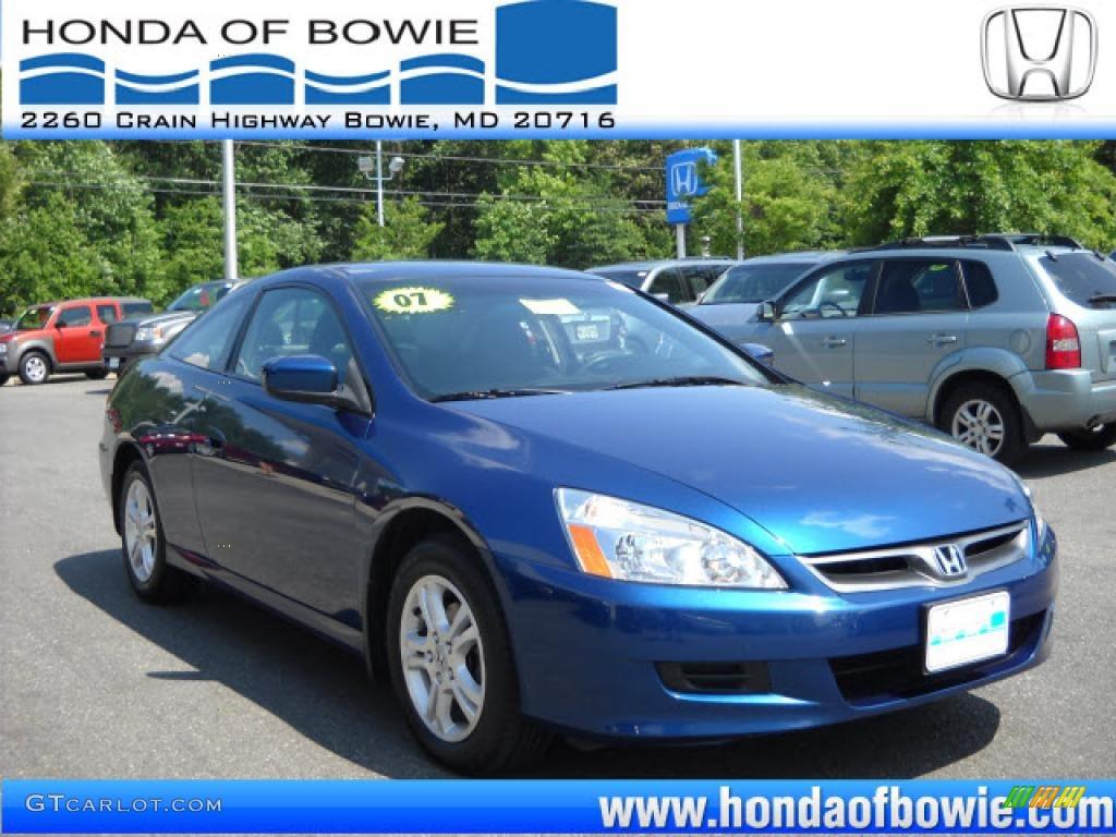 2007 Sapphire Blue Pearl Honda Accord Lx Coupe 31144961