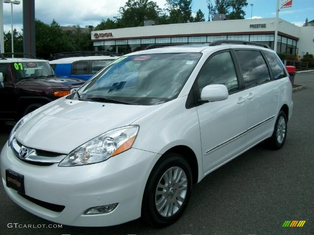 2007 sienna xle limited awd arctic frost pearl white stone photo 1