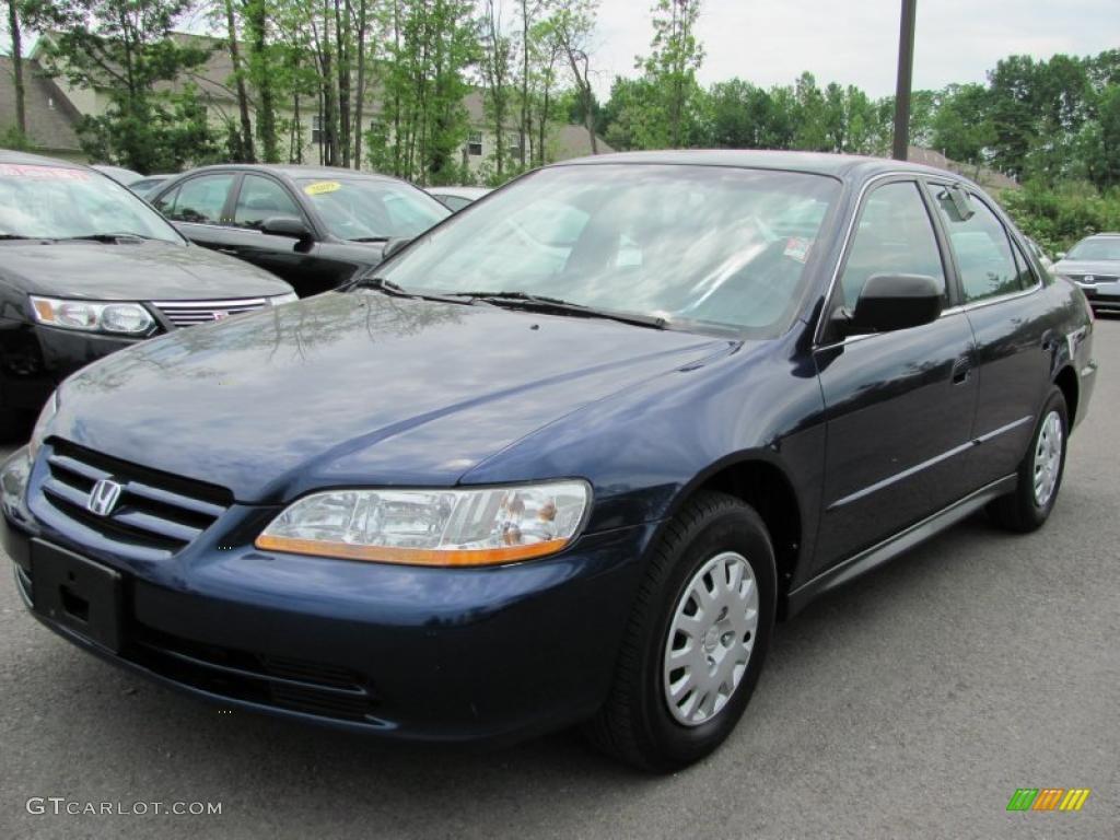 2002 Accord VP Sedan - Eternal Blue Pearl / Quartz Gray photo #1
