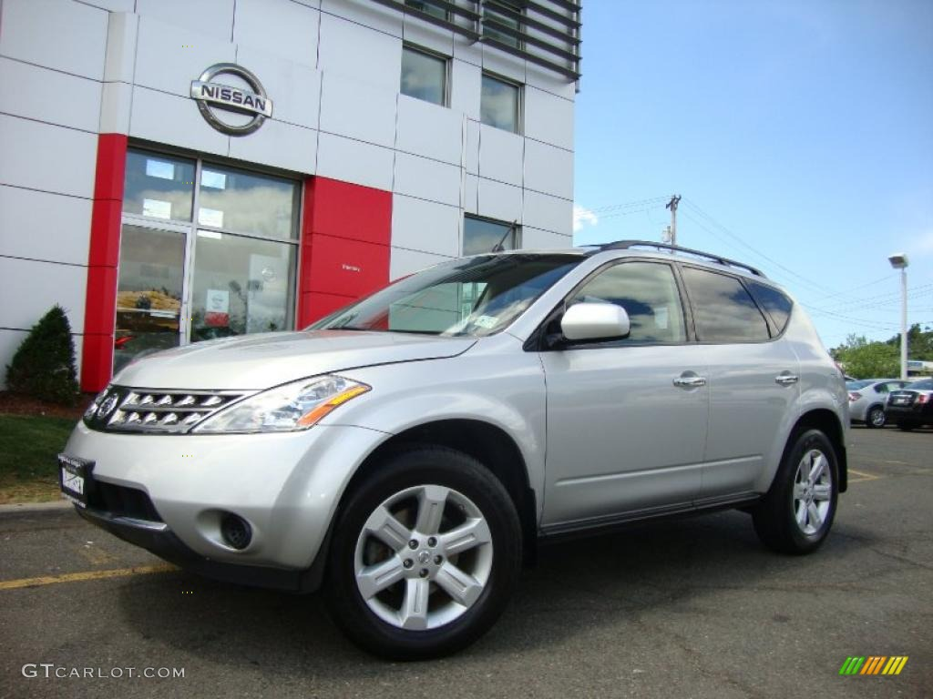 2007 Murano S AWD - Brilliant Silver Metallic / Charcoal photo #4