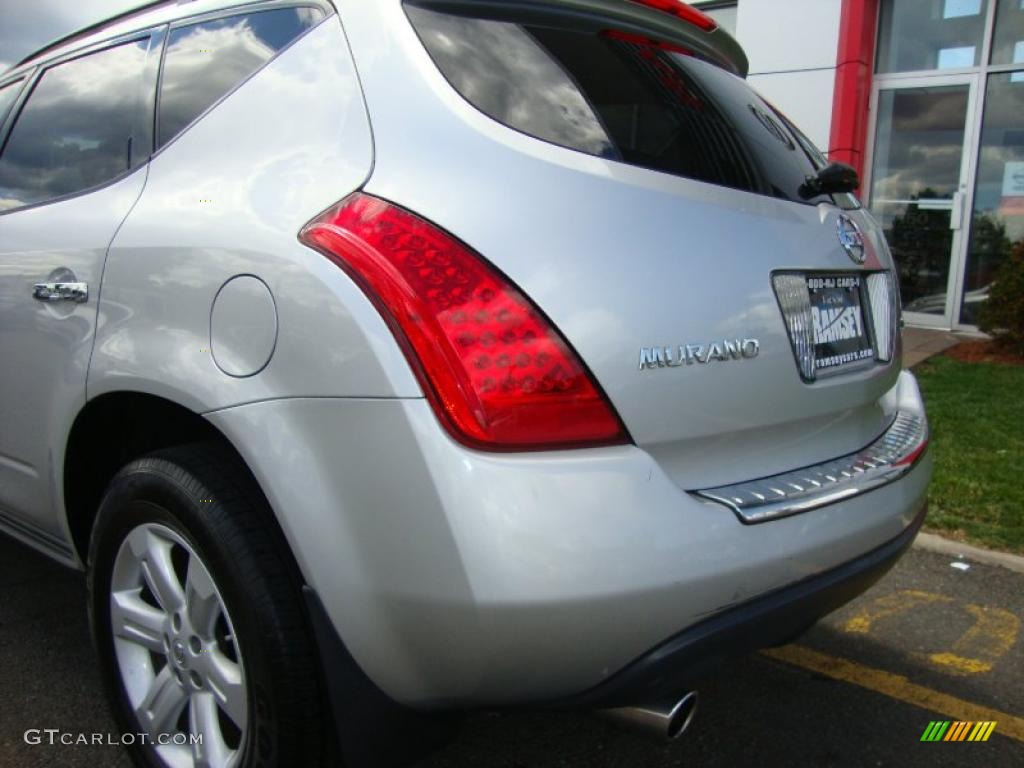2007 Murano S AWD - Brilliant Silver Metallic / Charcoal photo #16