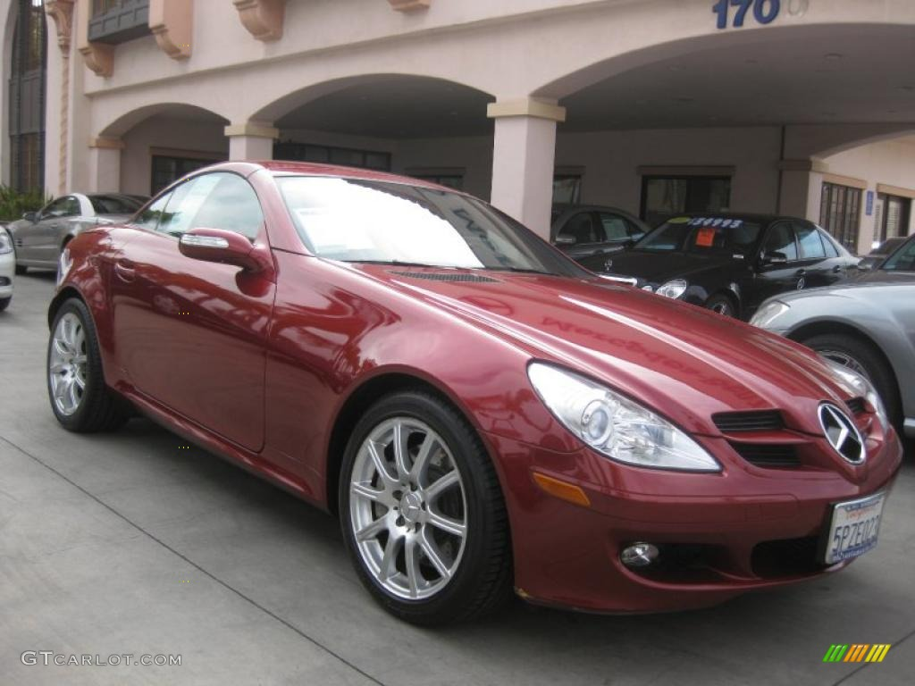 2005 firemist red metallic mercedes benz slk 350 roadster. Black Bedroom Furniture Sets. Home Design Ideas