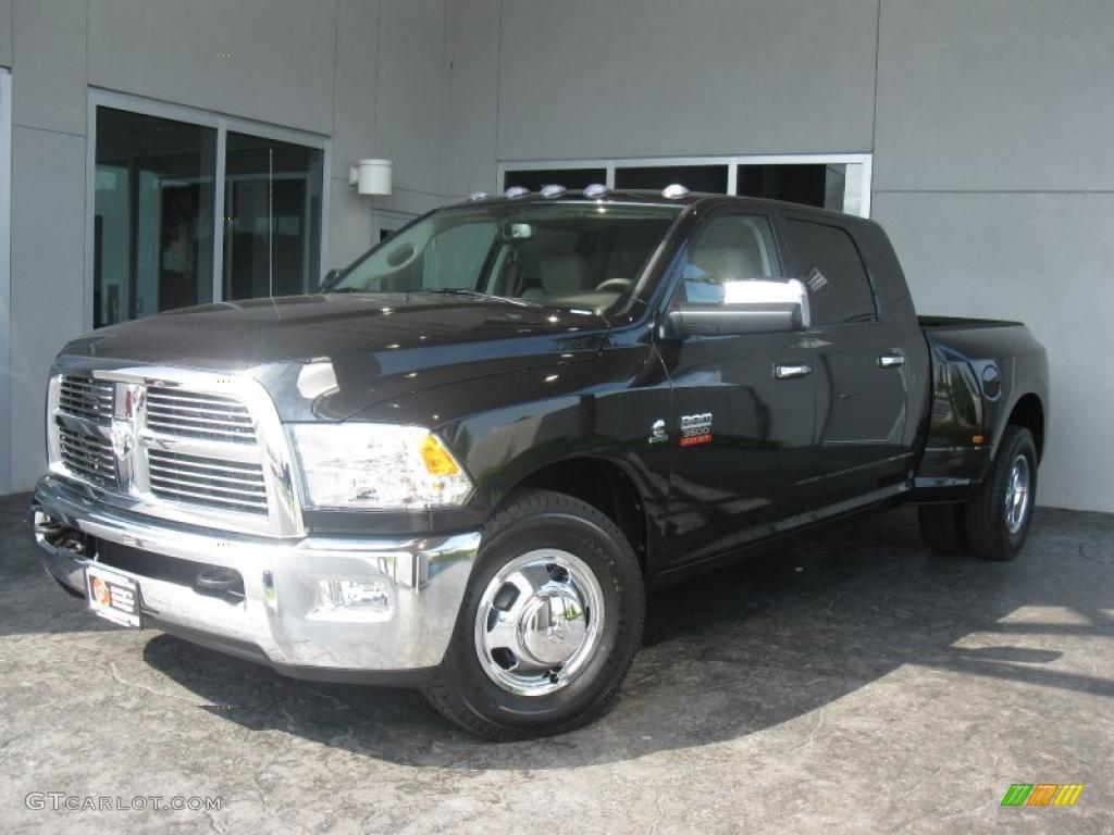 2010 Brilliant Black Crystal Pearl Dodge Ram 3500 Laramie Mega Cab Dually 31204092 Gtcarlot Com Car Color Galleries