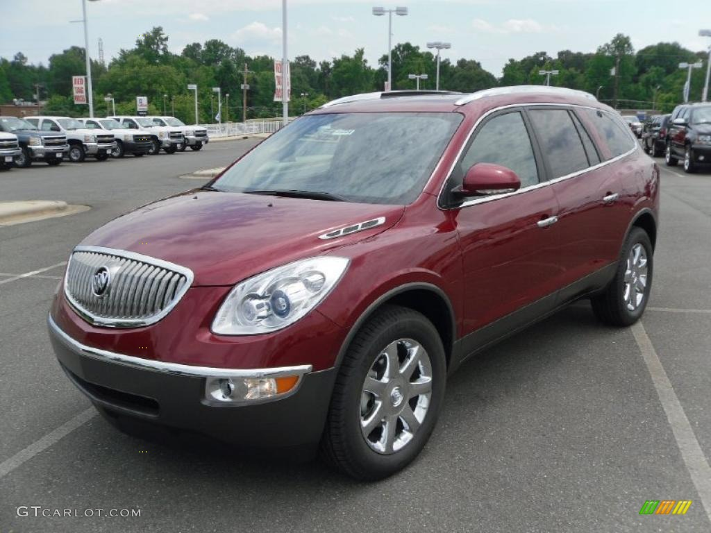 2010 Enclave CXL - Red Jewel Tintcoat / Cashmere/Cocoa photo #1