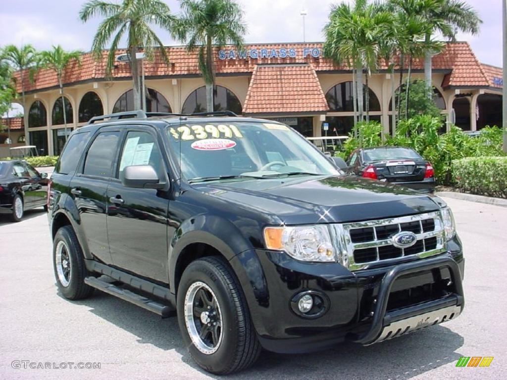 2009 Escape XLT V6 - Black Pearl Slate Metallic / Stone photo #1