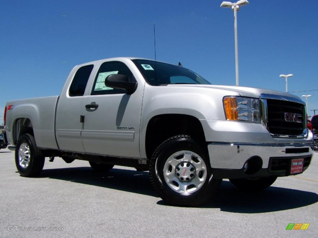 2010 pure silver metallic gmc sierra 2500hd sle extended. Black Bedroom Furniture Sets. Home Design Ideas