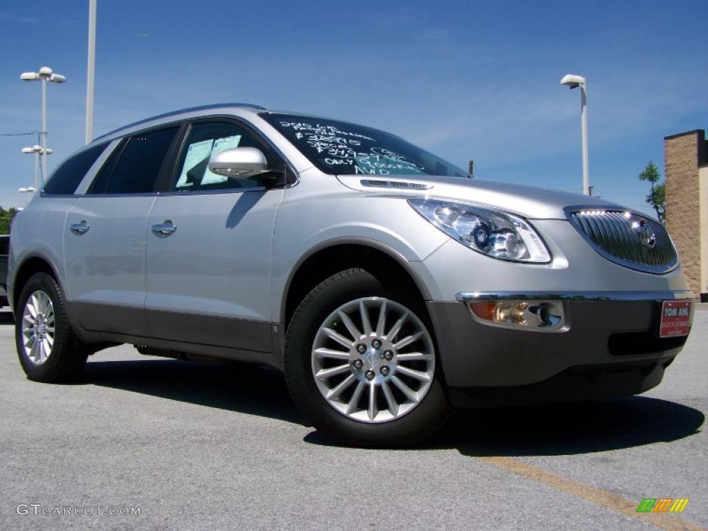 2010 Enclave CXL AWD - Quicksilver Metallic / Titanium/Dark Titanium photo #1