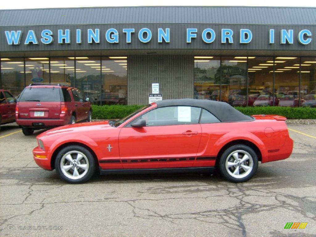 2007 Mustang V6 Premium Convertible - Torch Red / Dark Charcoal photo #1