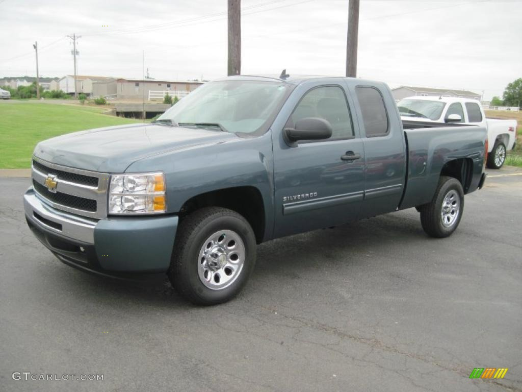 2010 blue granite metallic chevrolet silverado 1500 ls extended cab 31257020. Black Bedroom Furniture Sets. Home Design Ideas