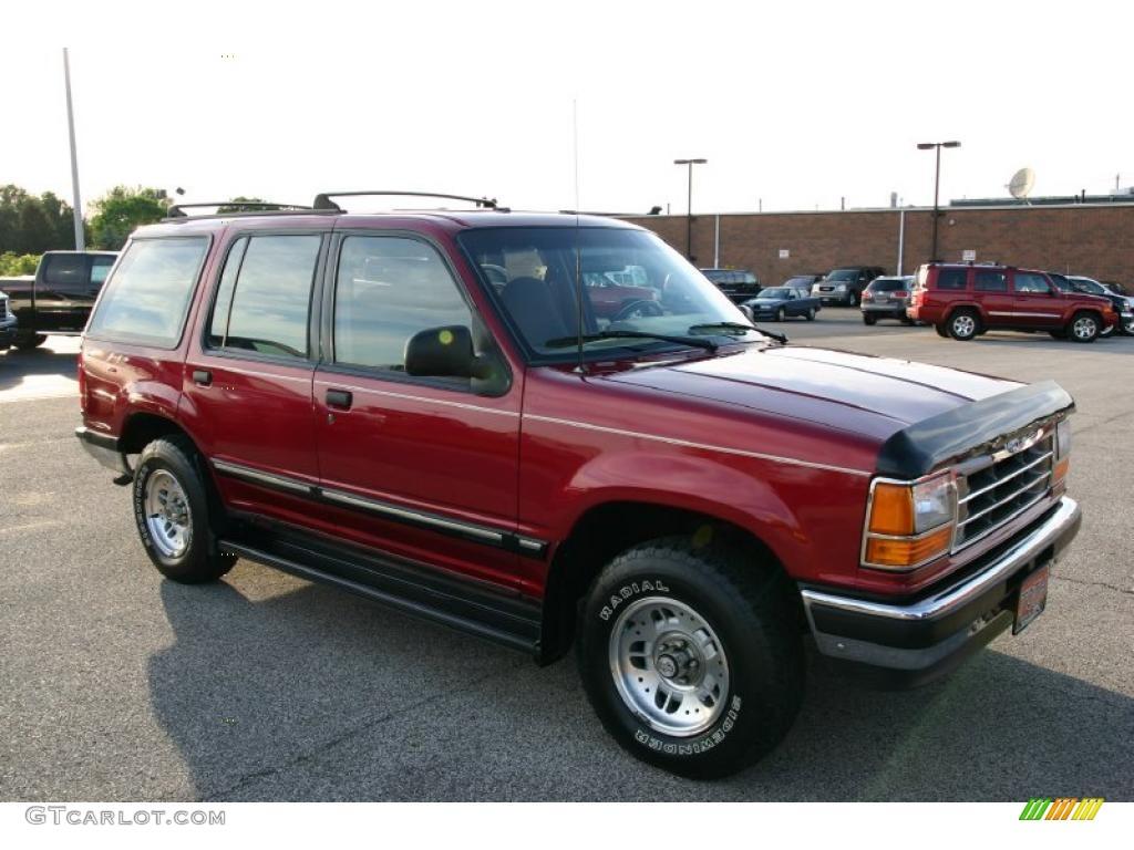 1994 electric red metallic ford explorer xlt 4x4 31256741. Black Bedroom Furniture Sets. Home Design Ideas