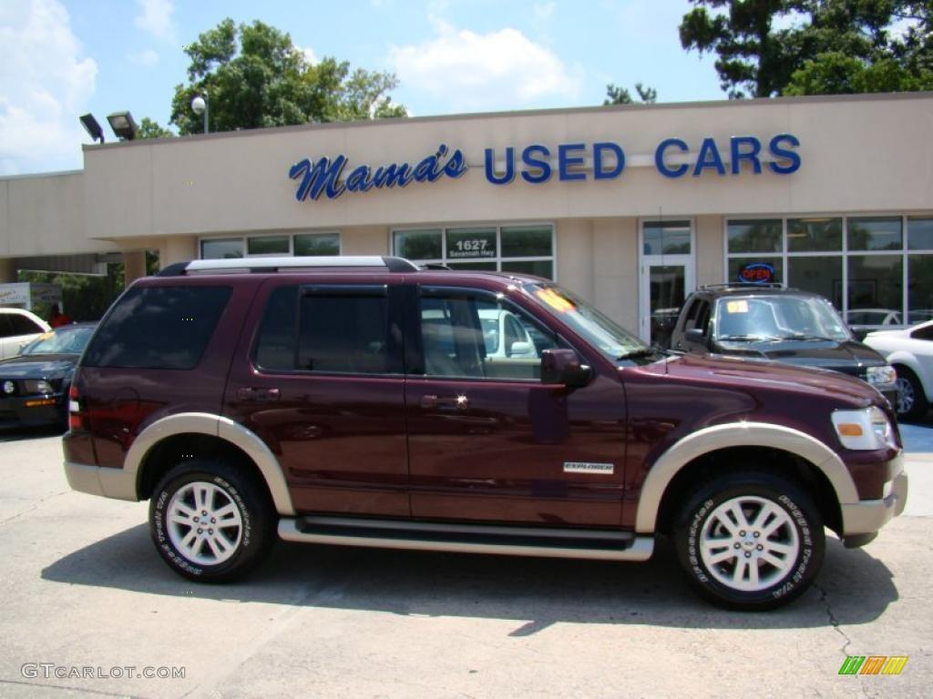 2006 Dark Cherry Metallic Ford Explorer Eddie Bauer 31331982