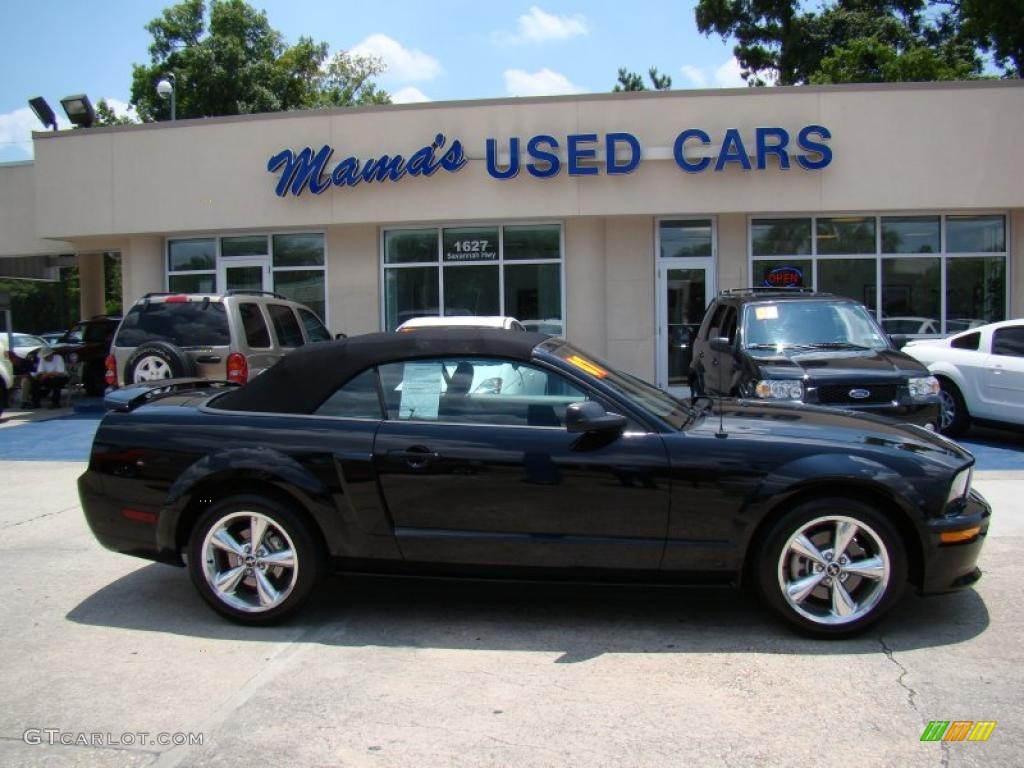 2007 Mustang GT/CS California Special Convertible - Black / Black/Dove Accent photo #1