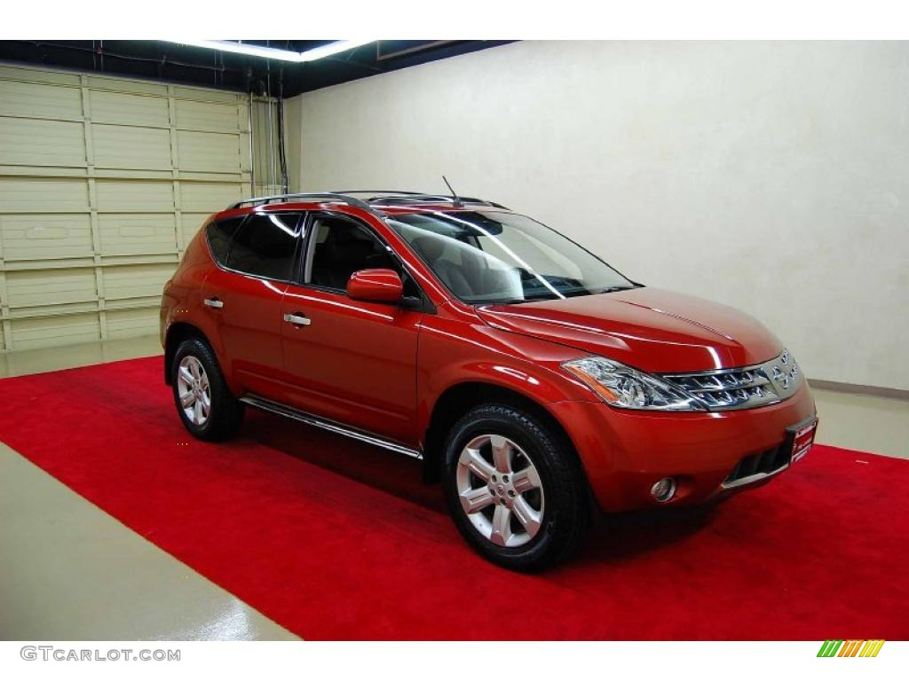 2007 Murano SL - Sunset Red Pearl Metallic / Charcoal photo #1