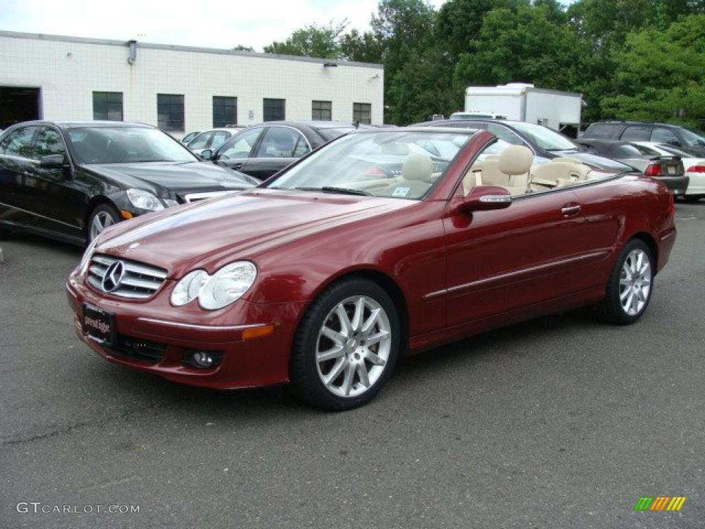 2007 storm red metallic mercedes benz clk 350 cabriolet for 2007 mercedes benz clk