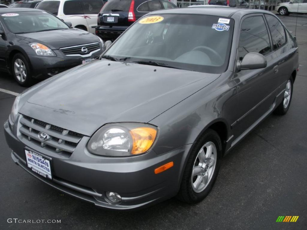 2003 charcoal gray metallic hyundai accent gl coupe. Black Bedroom Furniture Sets. Home Design Ideas