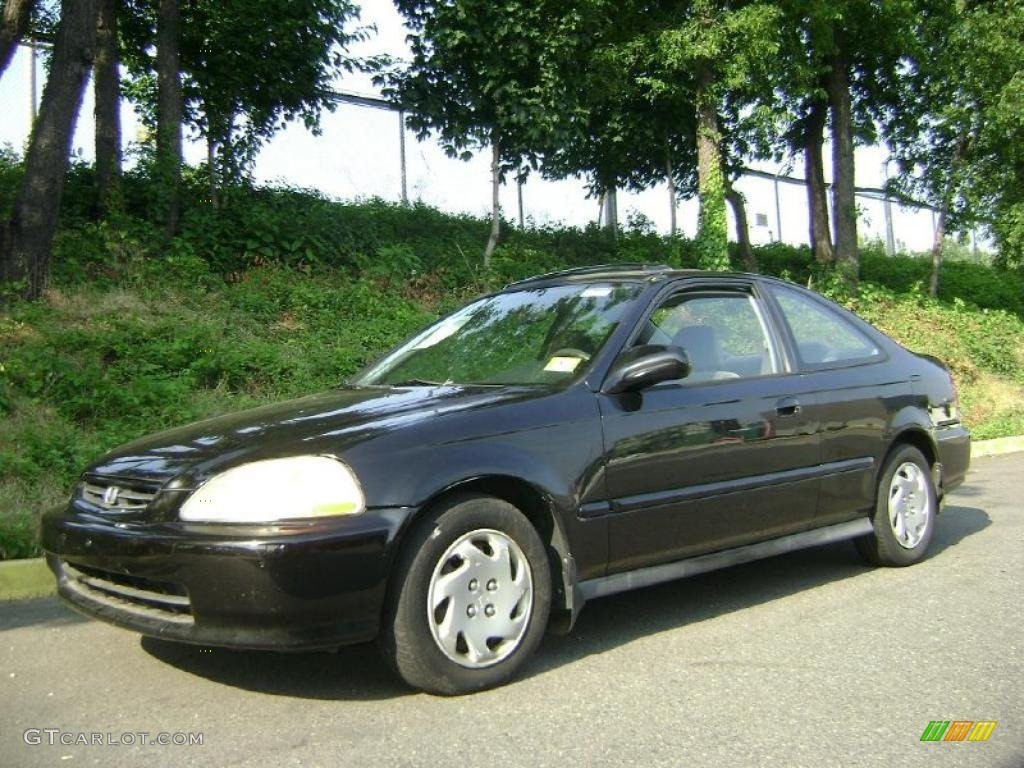 Captivating Granada Black Pearl Metallic Honda Civic. Honda Civic EX Coupe