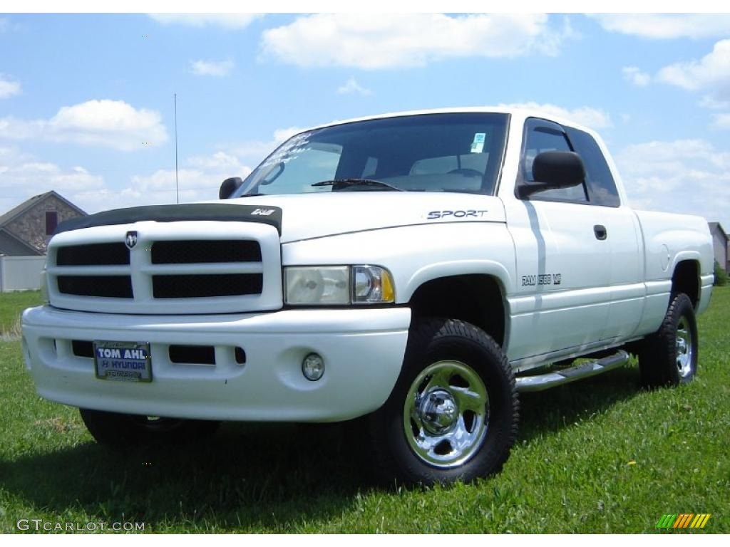 1999 bright white dodge ram 1500 sport extended cab 4x4 31391797 gtcarlot com car color