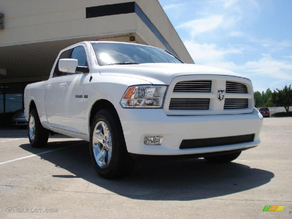 2010 ram 1500 sport quad cab 4x4 stone white dark slate gray photo