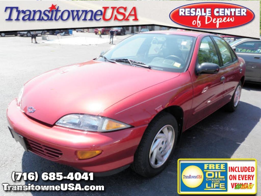 1999 Cavalier Sedan - Cayenne Red Metallic / Medium Gray photo #1