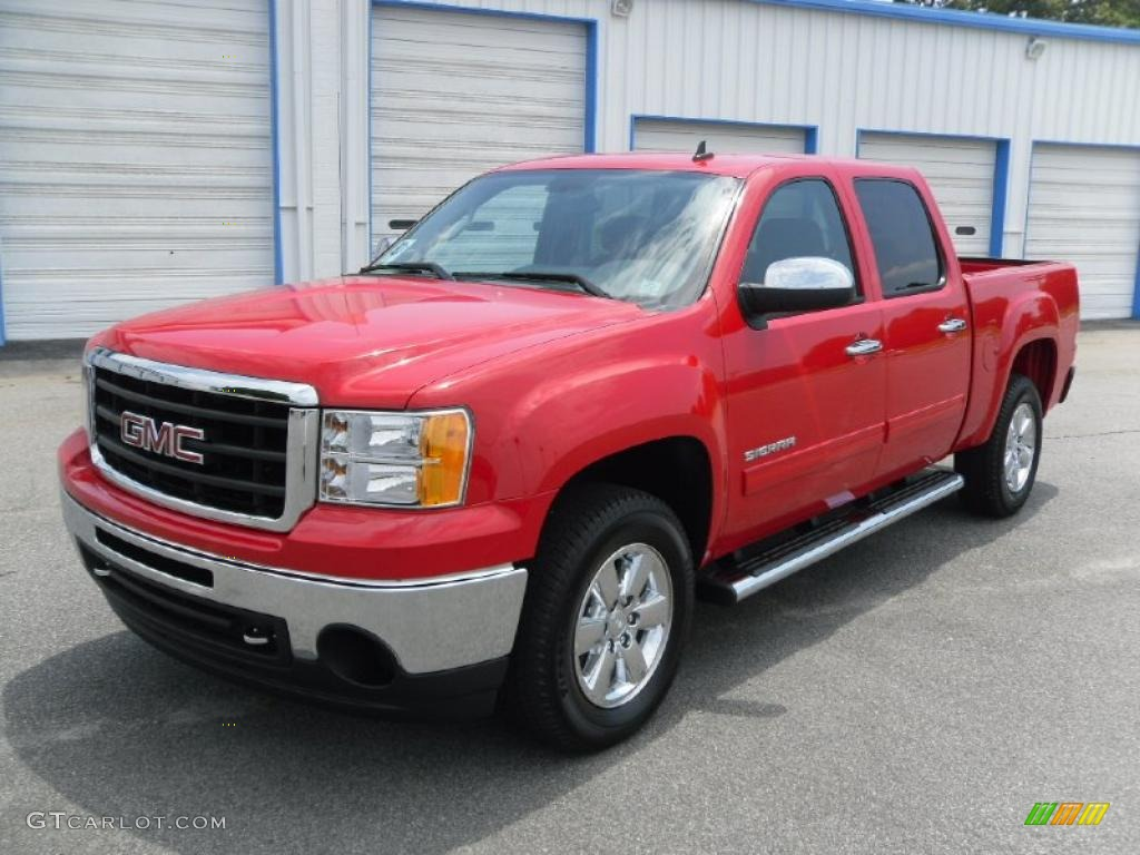 2010 fire red gmc sierra 1500 sle crew cab 31426510 car color galleries. Black Bedroom Furniture Sets. Home Design Ideas
