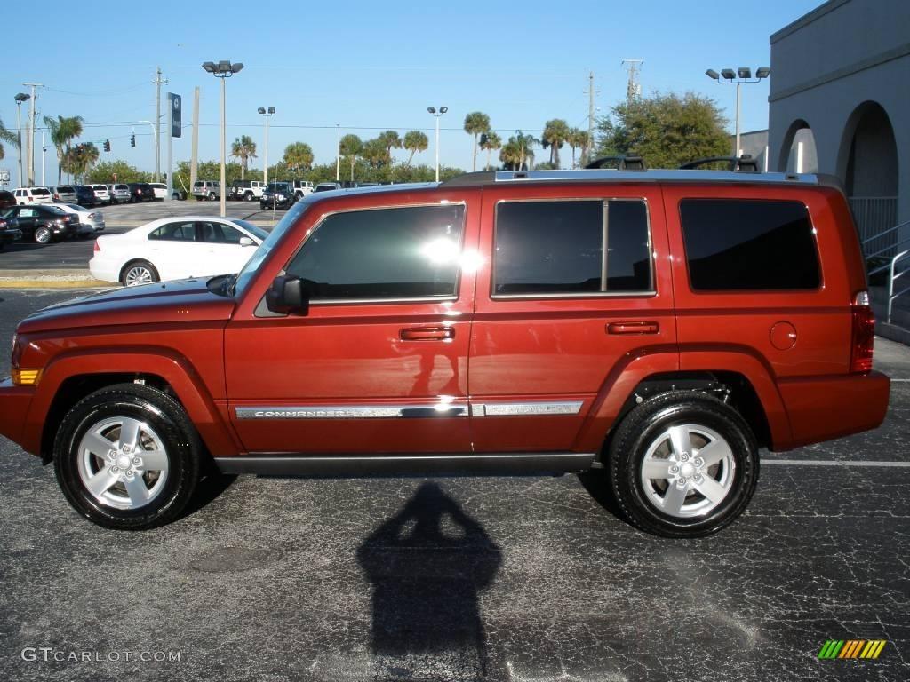 2008 red rock crystal pearl jeep commander limited 3142339 gtcarlot com car color galleries