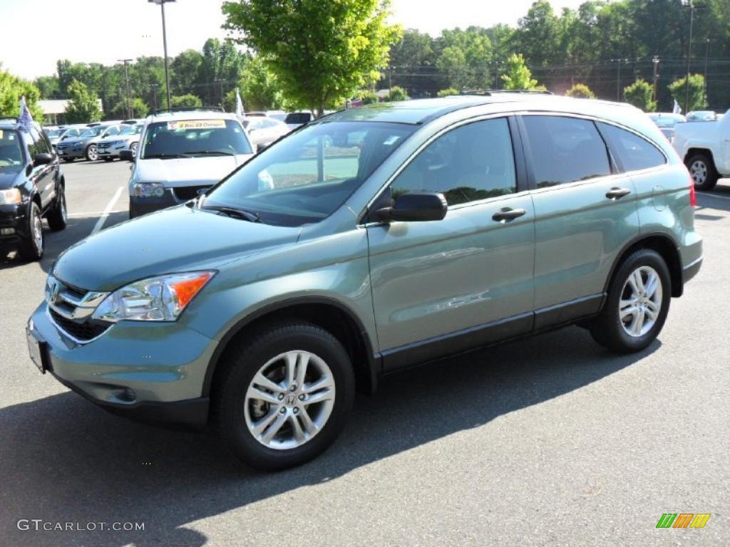 2010 CR-V EX - Opal Sage Metallic / Ivory photo #1