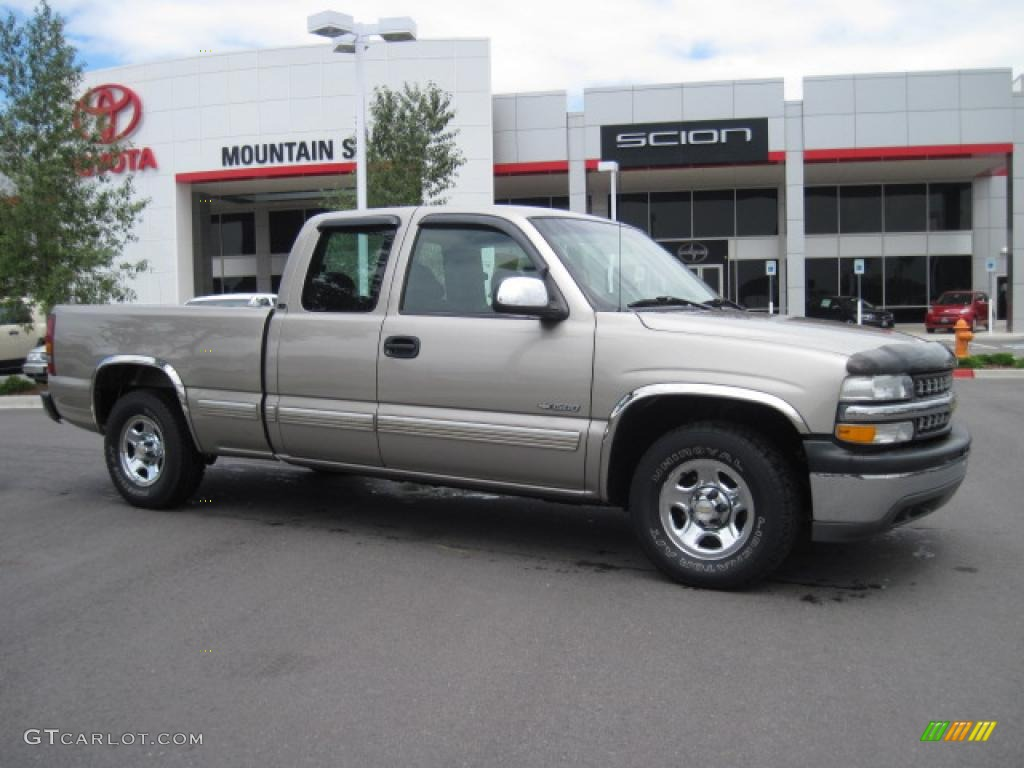 2002 Silverado 1500 LS Extended Cab - Light Pewter Metallic / Graphite Gray photo #1