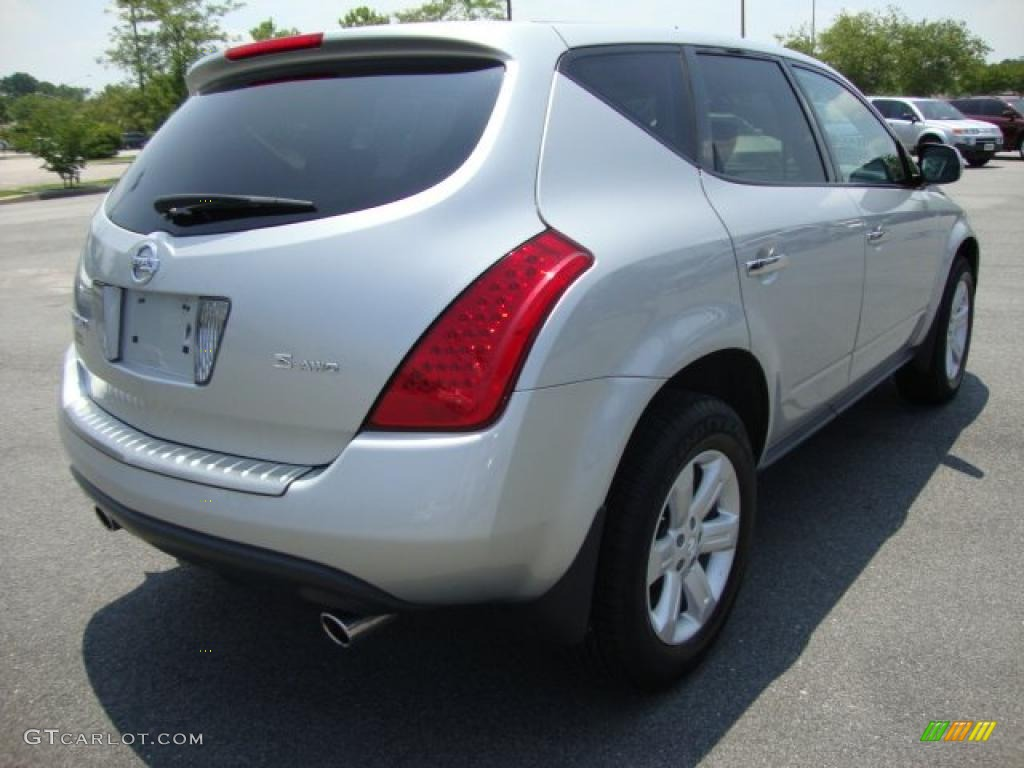 2007 Murano SE AWD - Brilliant Silver Metallic / Charcoal photo #6