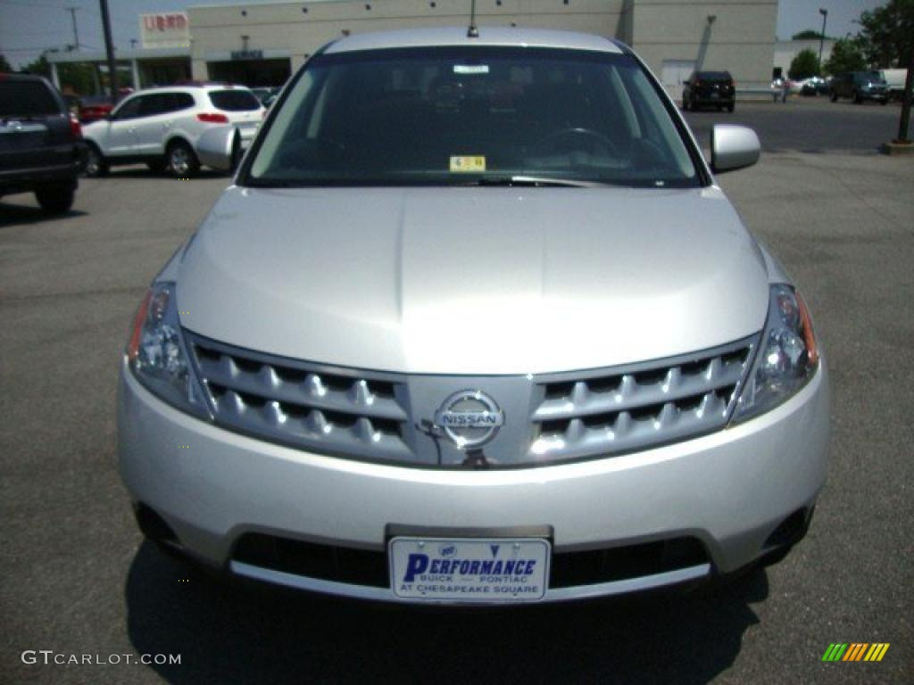 2007 Murano SE AWD - Brilliant Silver Metallic / Charcoal photo #9