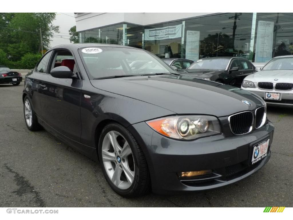 2008 sparkling graphite metallic bmw 1 series 128i coupe 31477989 car color. Black Bedroom Furniture Sets. Home Design Ideas