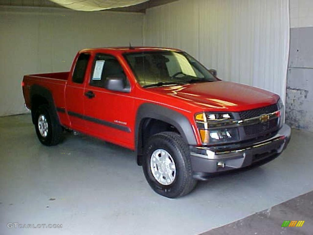 2005 victory red chevrolet colorado ls extended cab #31478445