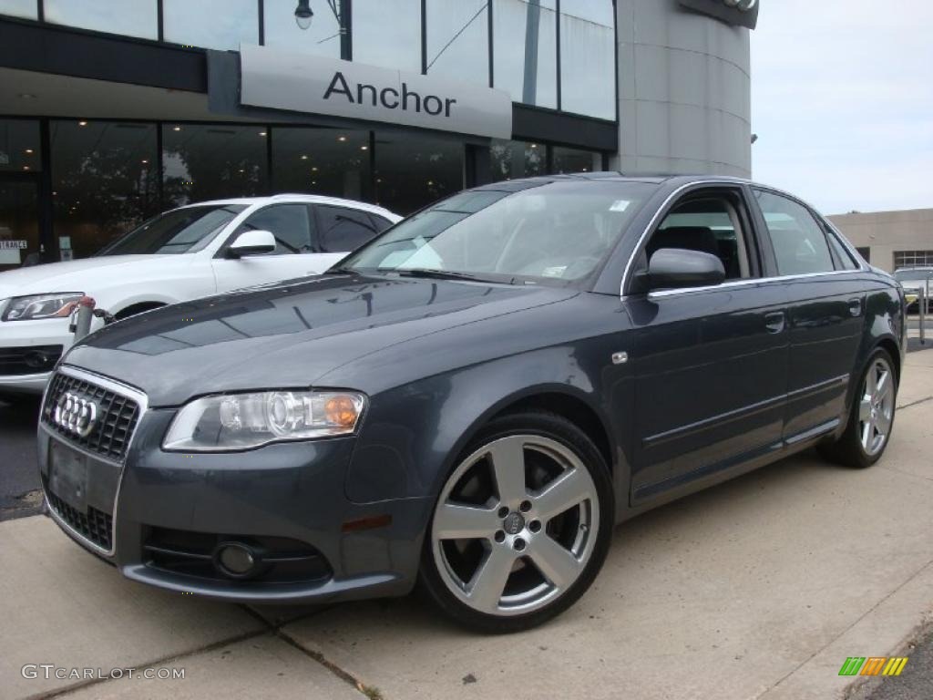 2007 dolphin gray metallic audi a4 2.0t quattro sedan #31536622