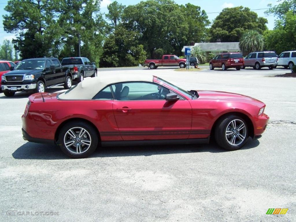 2010 red candy metallic ford mustang v6 premium convertible 31585401 photo 4. Black Bedroom Furniture Sets. Home Design Ideas
