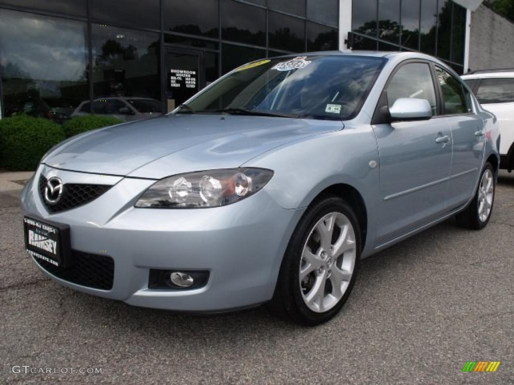 2008 icy blue metallic mazda mazda3 i touring sedan 31585452 car color galleries. Black Bedroom Furniture Sets. Home Design Ideas