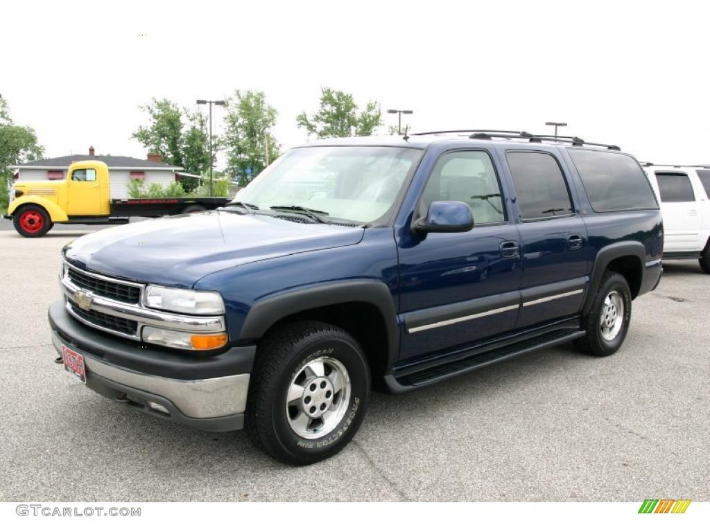 2002 indigo blue metallic chevrolet suburban 1500 lt 4x4 31585107 photo 6 car. Black Bedroom Furniture Sets. Home Design Ideas