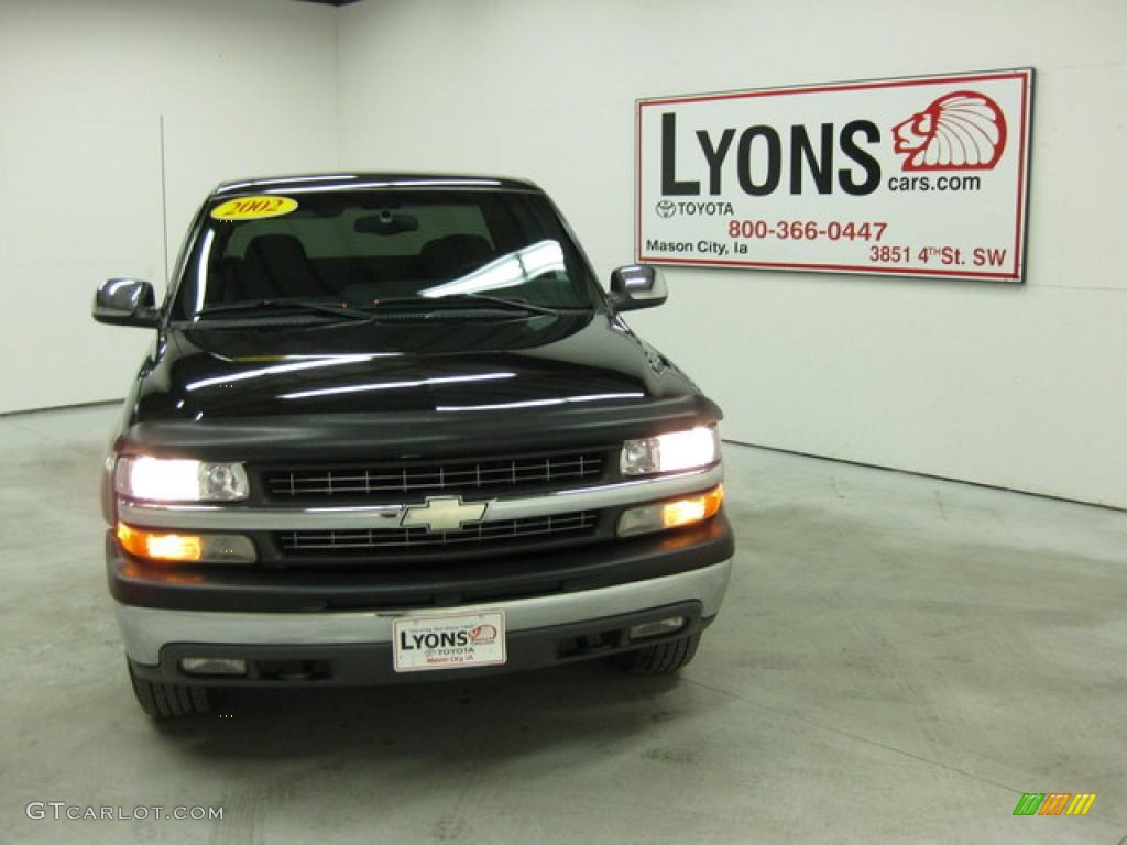 2002 Silverado 1500 LS Extended Cab 4x4 - Onyx Black / Graphite Gray photo #20