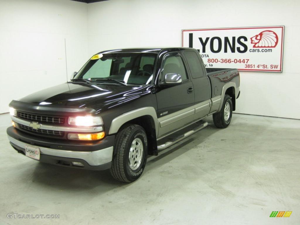 2002 Silverado 1500 LS Extended Cab 4x4 - Onyx Black / Graphite Gray photo #23