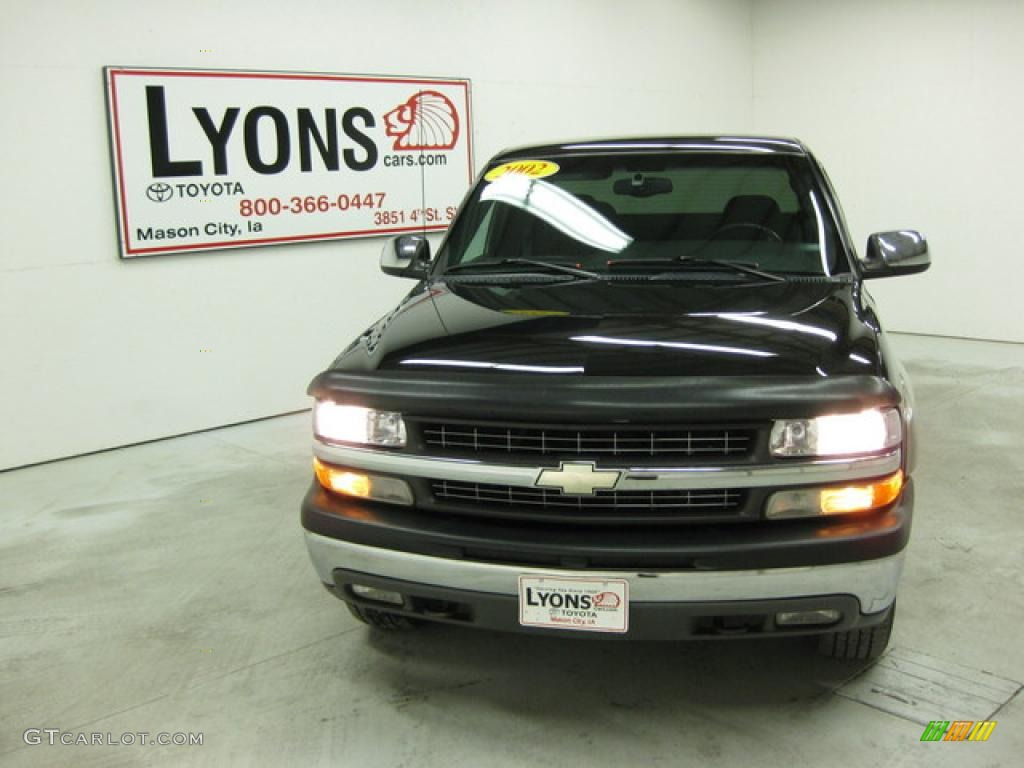 2002 Silverado 1500 LS Extended Cab 4x4 - Onyx Black / Graphite Gray photo #27