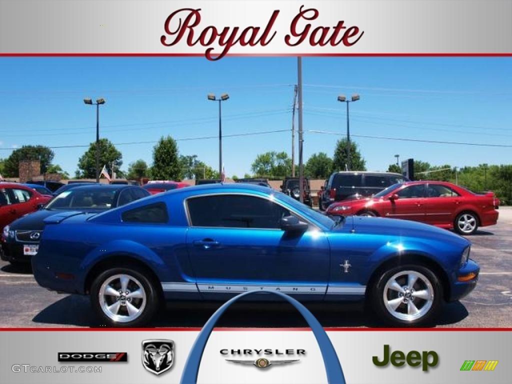 2007 Mustang V6 Premium Coupe - Vista Blue Metallic / Light Graphite photo #1