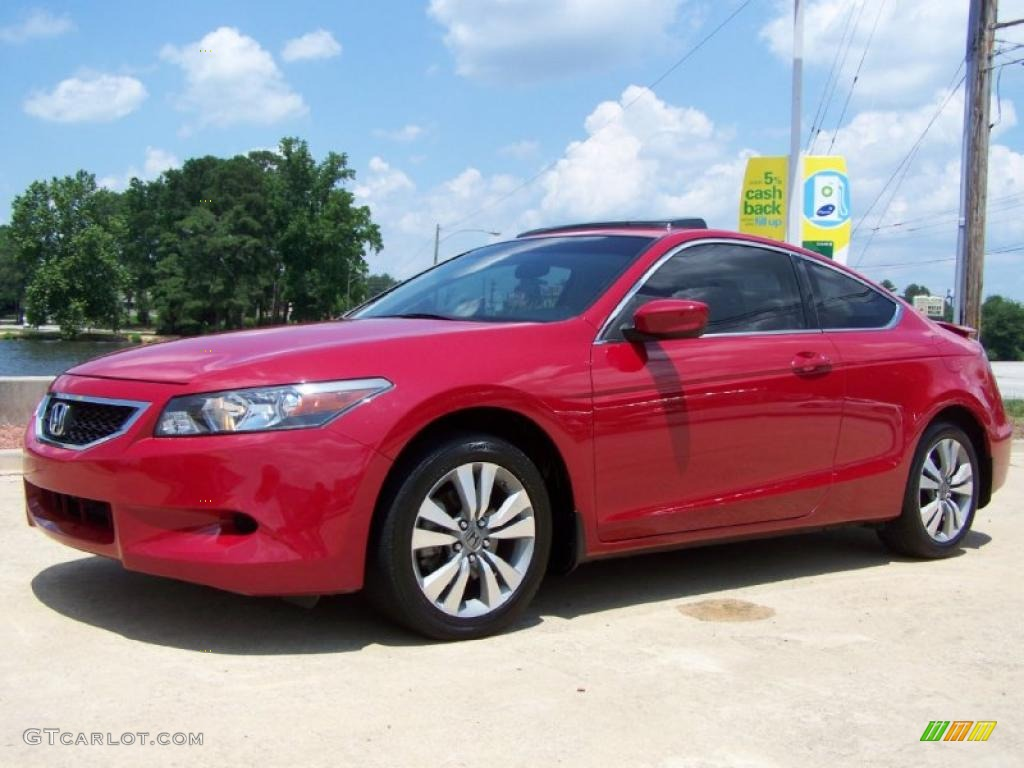 San Marino Red 2008 Honda Accord Ex L Coupe Exterior Photo