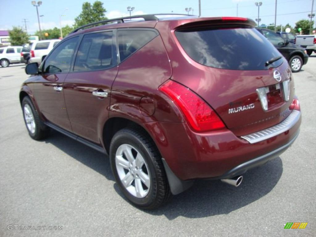 2007 Murano S - Merlot Pearl / Cafe Latte photo #3