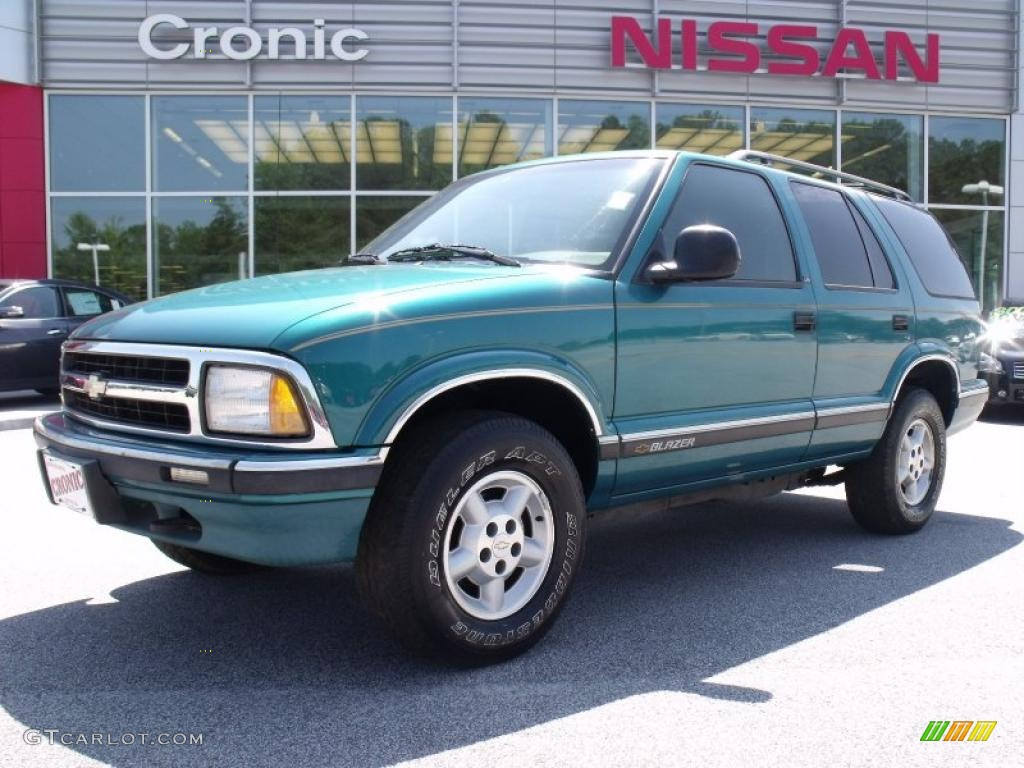 1995 Chevrolet Blazer LS 4x4 - Bright Teal Metallic Color / Ebony